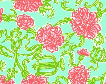 "Alpha Chi Omega Lilly Inspired HTV, pattern vinyl, sheet size 12""x12"" , Lily P adhesive printed patterned craft vinyl LP-132"