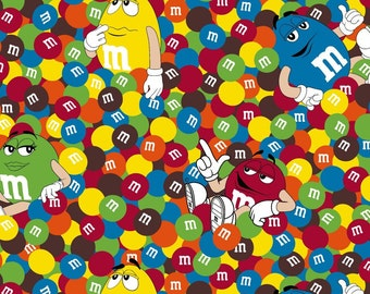 Candy Fabric by Springs Creative: Mars M&M's Friends Colorful candy fabric , yard