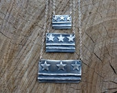 Sterling DC Flag Necklaces - Mini, Medium, Large sizes