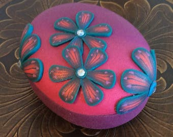 OOAK original purple porcelain box. Great gift!