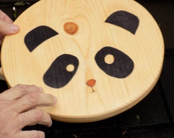 Pensive Panda Toy Wooden Shield
