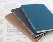 Large Long Stitch Bullet Journal Notebook with White Dotted Grid Pages and Hard Covers
