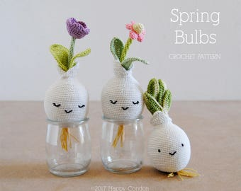 CROCHET PATTERN - Spring bulbs amigurumi