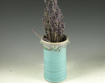 Windowsill Flower Vase - hand thrown stoneware pottery