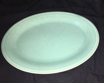 Edwin M Knowles Pastel Green Dinner Platter