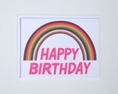 Happy Birthday Rainbow Note Card