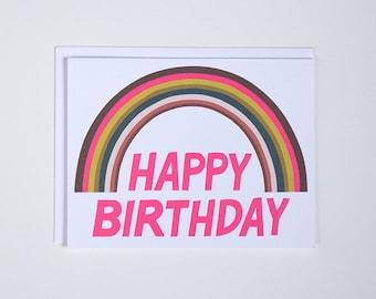 Happy Birthday Rainbow Note Card