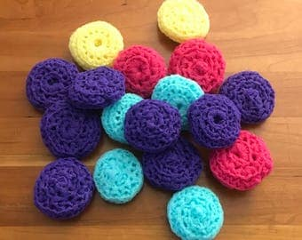 Nylon Netting Pan Scrubbers   Dish Scrubbies Double Sided