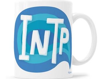 INTP Gift MBTI Gift Introvert Mug Emotional Support Introverts Unite Myers-Briggs Shhh intp Mug  Personality Mug INTP Socially Awkward