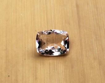 Natural Genuine Morganite - ONE Rectangular Cushion shape Pink Morganite Loose Gemstone averaging 7x9mm, 1.67 carats minimum - LSG1031