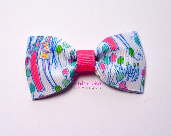 """Pop! ~ 3"""" Hair Bow Tuxedo Bow ~ Lilly Inspired ~ Simple Bow ~ Boutique Bow for Babies Toddlers ~ Girls Hair Bows"""