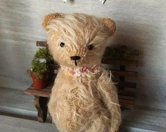 OOAK Handmade 4.5 inch Mohair Artist Teddy Jasmine