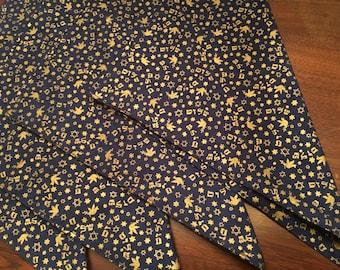 Reversible Passover fabric napkins Pesach Jewish Holidays