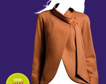 OOP Womens Fleece Jacket ASYMMETRICAL Front opening Simplicity 2024 Sew Simple Pattern Size 10-22 UNCUT