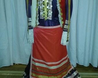 Vintage handmade Greek National Folk Costume, Amalia