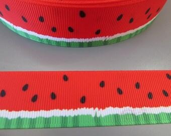 Watermelon 2.5cm Grosgrain Ribbon x 1 metre