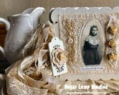 Edwardian Ladies Fabric Collage and Chipboard Journal