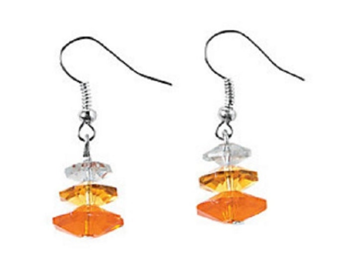 Candy Corn Crystal Earrings