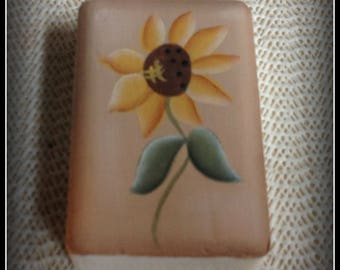 Sunflower Hand Painted Soap Bar Bath Home Decor Decoration