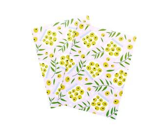 Olive Print Notecard illustration floral foodie pattern