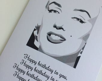 Marilyn Monroe Inspired Personalised Birthday Card