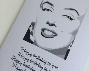 Marilyn Monroe Inspired Personalised Birthday Card