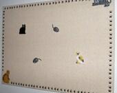 Cat Bulletin Board 12 X 26 in. w/ 6 Push Pins