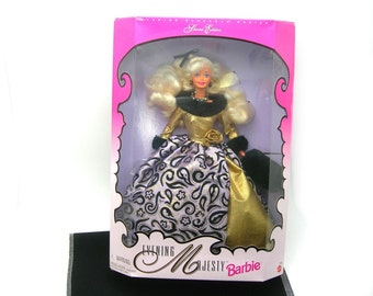 1996 Barbie Doll, Evening Majesty, Special Edition, 21 Years Old, Original Box, Collectible Doll, Evening Elegance Series, Gift Condition