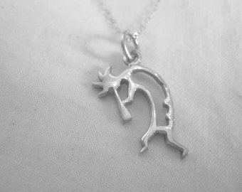 sterling silver Kokopelli necklace, open design. Only one
