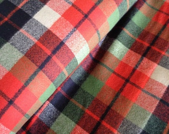 Flannel Fabric, Mammoth Plaid Flannel, Plaid in Adventure, Navy Flannel, Lumberjack Chic, by Kaufman, Mammoth Flannel in Adventure  267