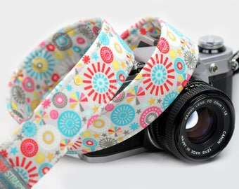 Floral Camera Strap - Playground