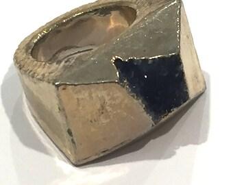 Dara Ettinger ABBY Druzy Ring in Purple/Gold sz 7.5