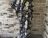 Plus Size Fleece Caftan Jacobean Design
