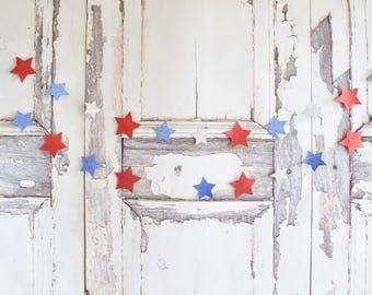 Glitter star banner,patriotic decor, Star Bunting, Star Garland,Fourth of July decor, memorial day decor, 4th of July, star decor