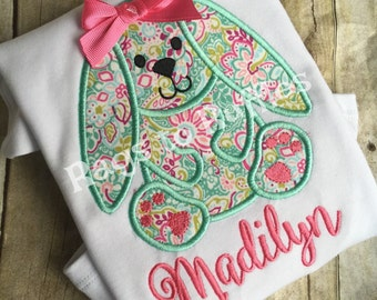 Personalized Easter Bunny Shirt- Monogrammed Bunny Shirt- Monogrammed Easter Shirt