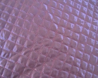 Home Decor Fabric Quilted Satin  Purple  1 5/8 Yard