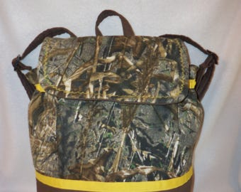 Mossy Oak camo Back Pack realtree duck blind max 4 school book bag diaper bag Great for Dad's too add a name many designs College also