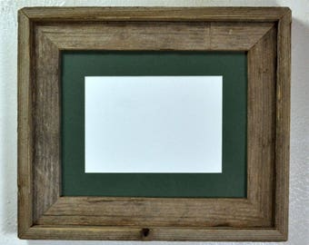 5 x 7 or 8 x 6 mat in 8x10 frame from rustic reclaimed wood complete with glass,mat,backing and hardware free shipping