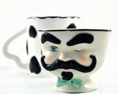 Tea Cup Candle Votive - Vintage Mr. Bailey's Tea Cup - Hand painted - Pastel Goth - Tea Lovers Gifts