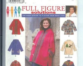 JACKET  Full Figured  Simplicity  Women Solutions  Sewing Pattern 8267   Size FF  18W-24W  UNCUT