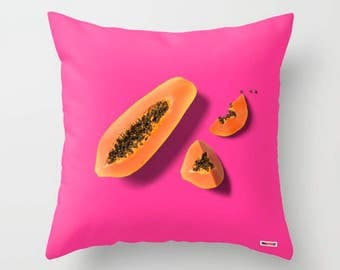 Fruits pillow - Lime pillow - colorful pillow - photo pillow - papaya pillow - modern decor - decorative pillows - lemon pillows