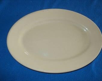"""Vintage Small--Caribe China--Tan--11"""" Platter"""