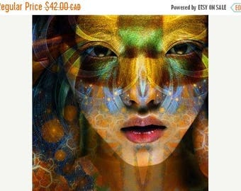SALE-35% OFF, Fine Art Print, Giclee Archival Print, Photomontage, Collage, Painted Photographs, Homage to Lilith Fair.
