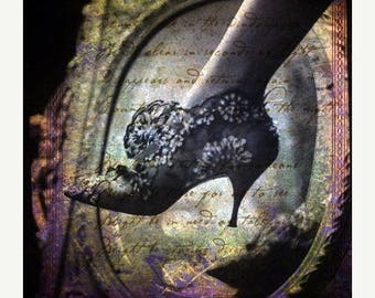 SALE-35% OFF, The slipper...6 x 7 digital photo fusion collage archival print