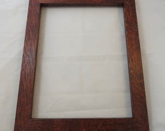 11x14  Quarter Sawn Red Oak with Reddish Brown Dye Picture Frame