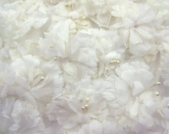 Vintage White or Ivory Flowers for Millinery Hats Corsage Crafting Set of 23