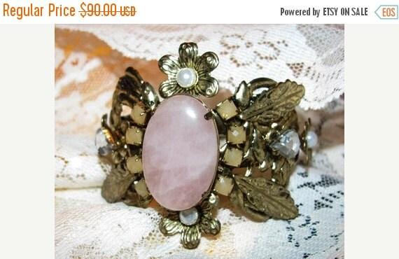 Cuff Bracelet, Victorian Style Costume Cuff Bracelet, Ornate, Clamper Bracelet, Lightweight #561