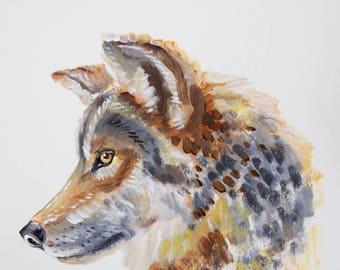 Wolf, Wolf Art, Wolf Painting, Wolf Portrait