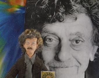 Kurt Vonnegut Doll Miniature Writer and Author Art Character