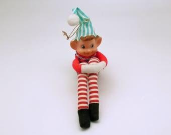 Vintage Christmas Ornament Pixie Elf Decoration
